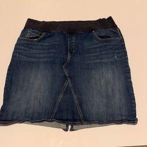 Gap plus size jean skirt